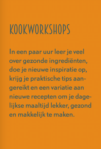 Kookworkshops Flyer